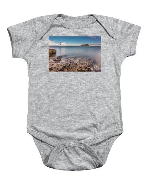 Puffin Island Lighthouse  Baby Onesie