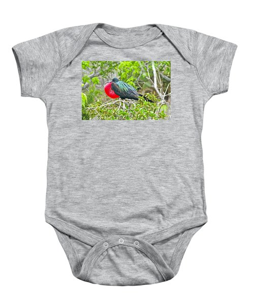 Puffing Up When Courting Baby Onesie