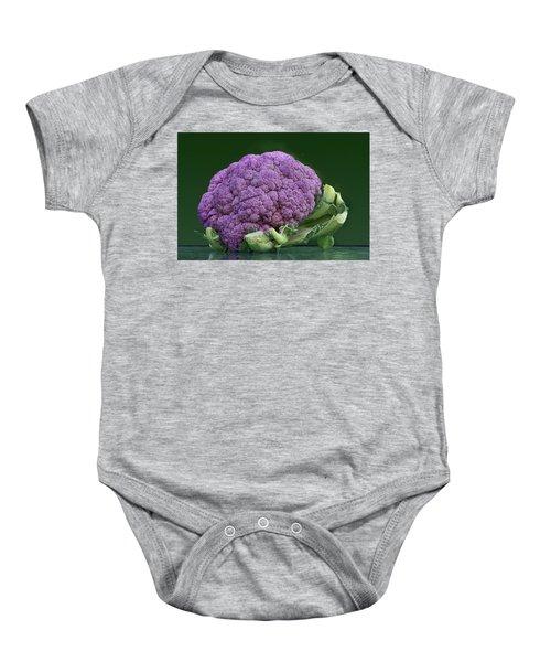 Purple Cauliflower Baby Onesie by Nikolyn McDonald