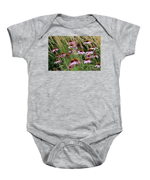 Purple Coneflowers Baby Onesie