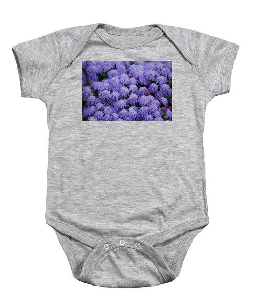 Purple Flowers Baby Onesie