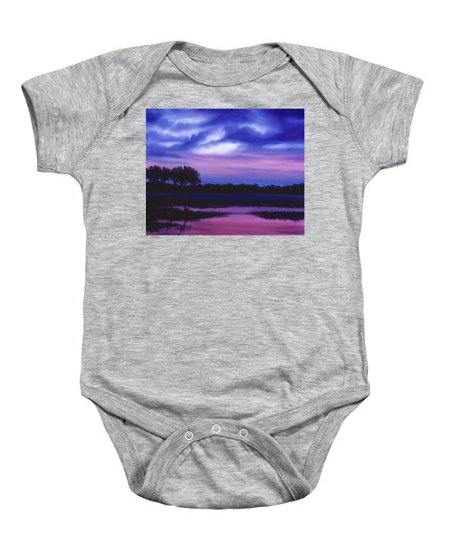 Purple Landscape Or Jean's Clearing Baby Onesie