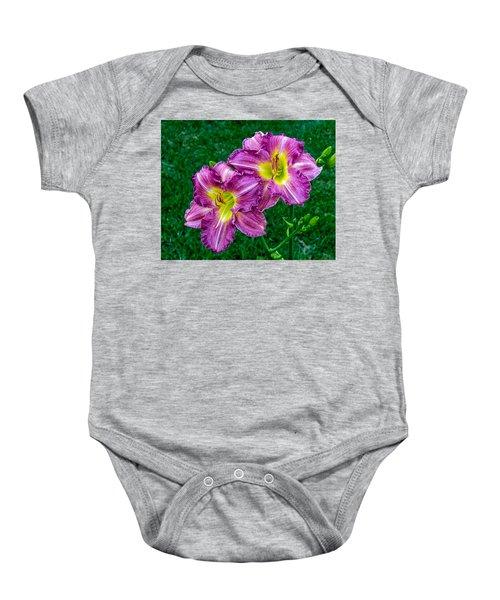 Purple Pair Baby Onesie