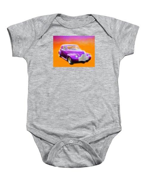 Purple Shadow Cruiser Baby Onesie