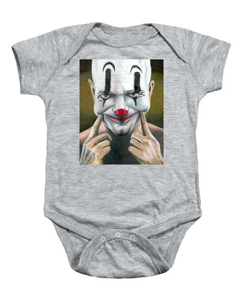 Put On A Happy Face Baby Onesie