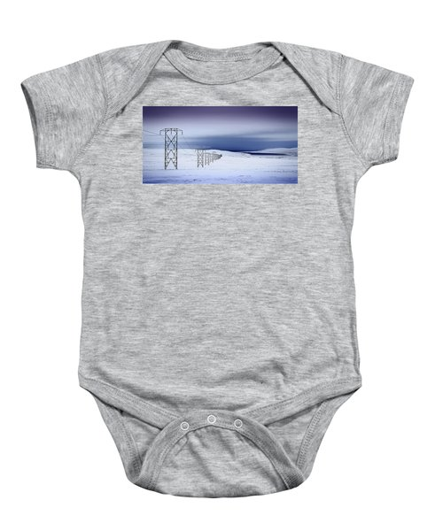 Pylons, Iceland Baby Onesie