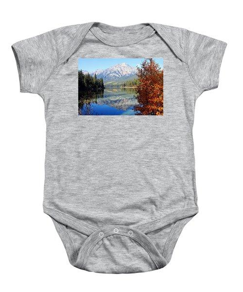 Pyramid Mountain Reflection 3 Baby Onesie