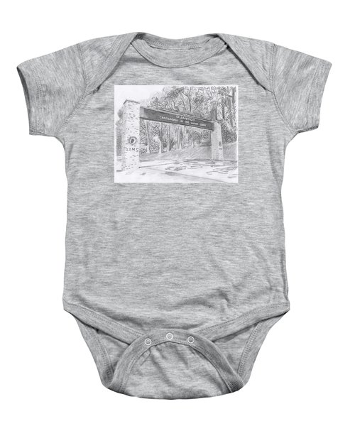 Quantico Welcome Graphite Baby Onesie
