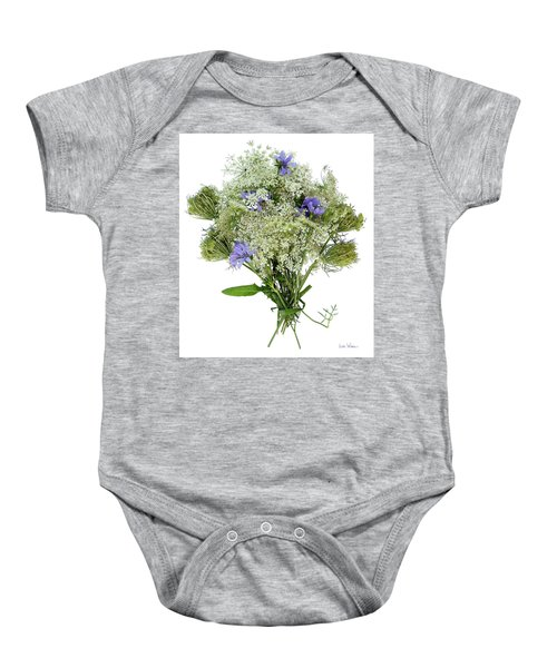 Queen Anne's Lace With Purple Flowers Baby Onesie