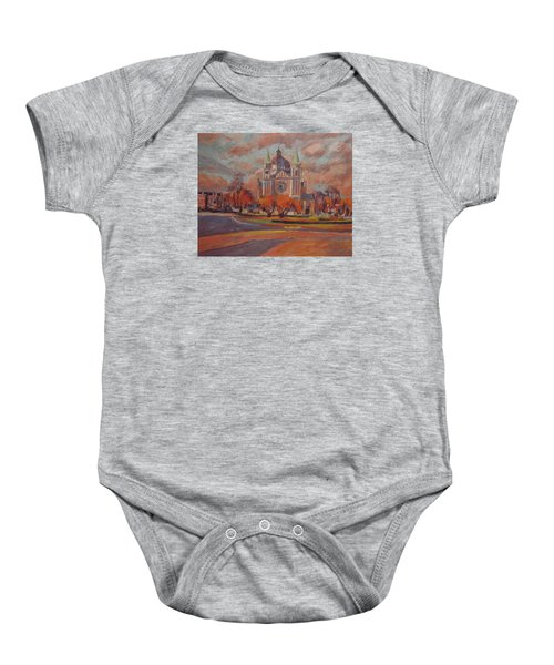 Queen Emma Square In Autumn Colours Baby Onesie by Nop Briex