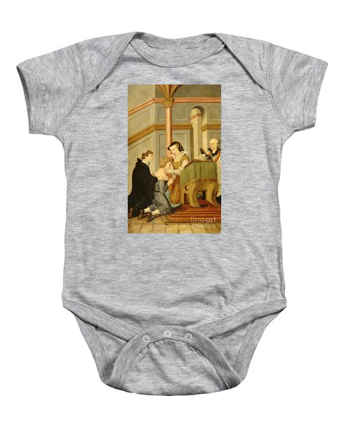 Queen Mary I Curing Subject With Royal Baby Onesie