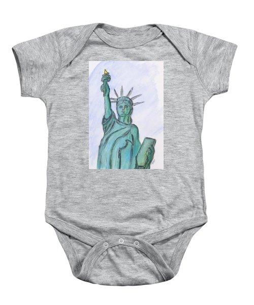 Queen Of Liberty Baby Onesie