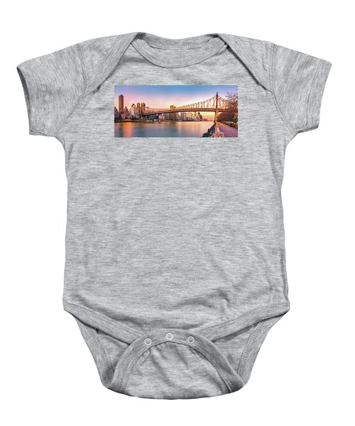 Queensboro Bridge At Sunset Baby Onesie