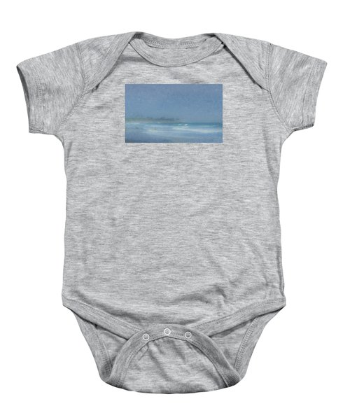 Foggy Afternoon At Little Compton Ri Baby Onesie