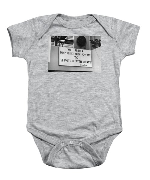 Quote By Ahmed Sekou Toure  Baby Onesie