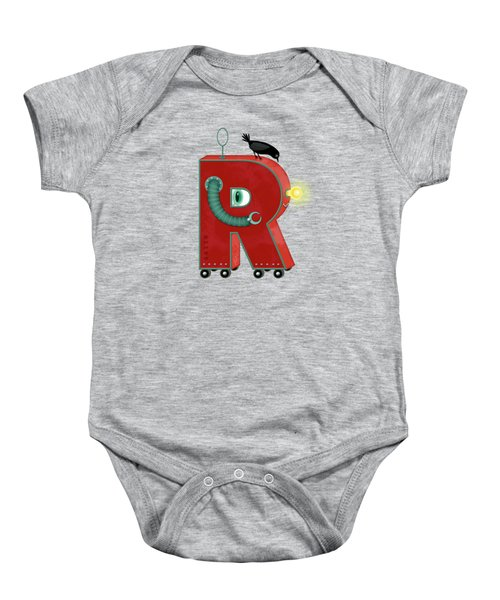 R Is For Robot Baby Onesie