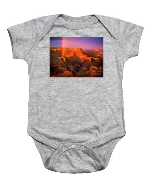 Rainbow At The Grand Canyon Baby Onesie