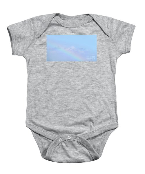 Baby Onesie featuring the digital art Rainbow Clouds And Sky by Francesca Mackenney