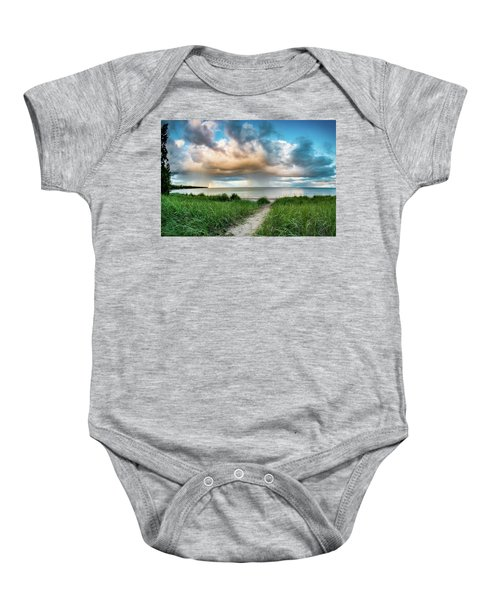 Rainbow Sunset Baby Onesie