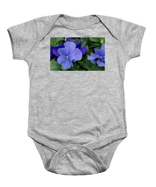 Raindrops On Purple Pansy Baby Onesie