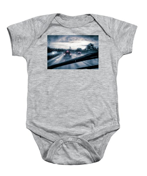 Rainy Day In July Baby Onesie