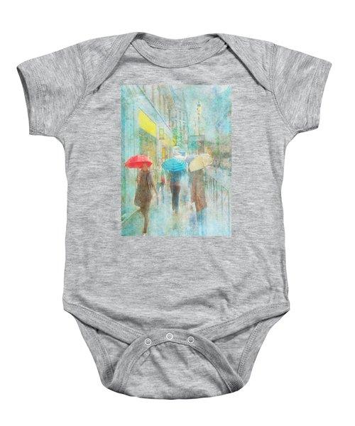 Rainy In Paris 5 Baby Onesie