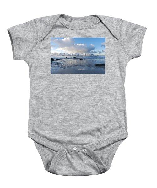 Ramberg Beach, Lofoten Nordland Baby Onesie by Dubi Roman