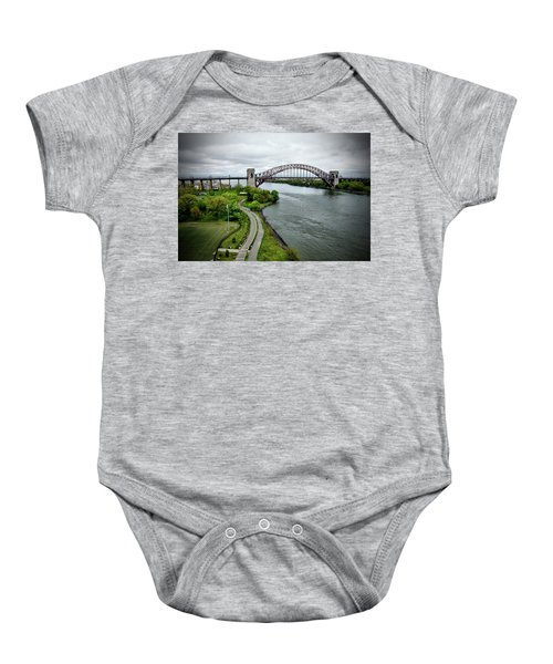 Randall's Island To Hellgate Baby Onesie