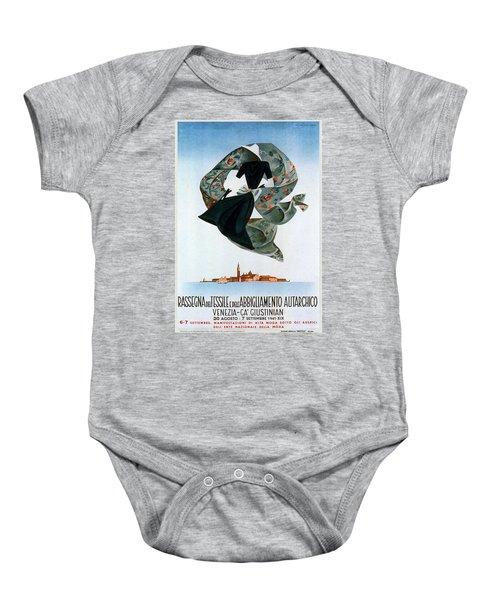 Rassegna Del Tessile E Del'abbigliamento Autarchico - Venezia, Italy - Retro Travel Poster Baby Onesie