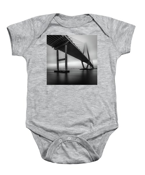 Ravenel Bridge November Fog Baby Onesie