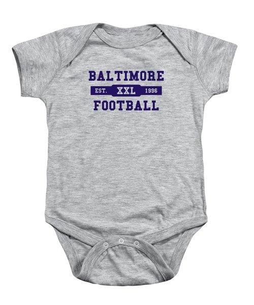 Ravens Retro Shirt Baby Onesie