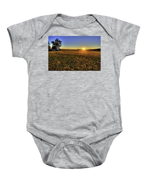 Rays Over The Field Baby Onesie