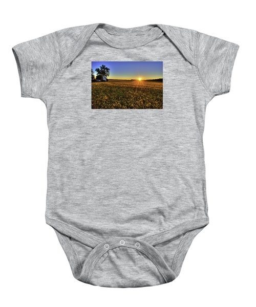 Rays Over The Field Baby Onesie