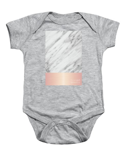Real Italian Marble And Pink Baby Onesie