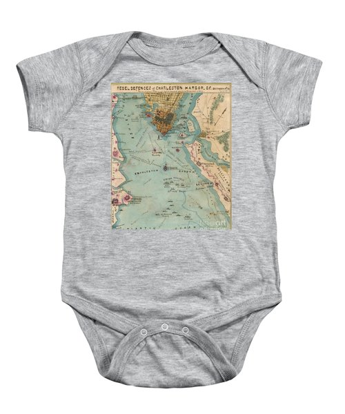 Rebel Defenses Of Charleston Harbor Baby Onesie