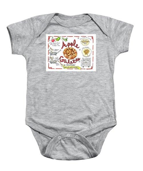 Recipe- Apple Galette Baby Onesie