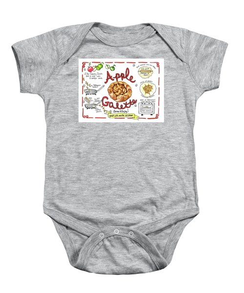Recipe- Apple Galette Baby Onesie