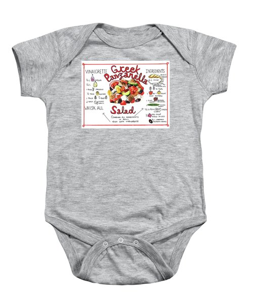 Recipe- Panzanella Salad Baby Onesie