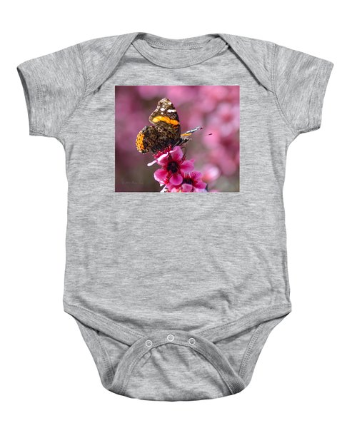 Red Admiral Butterfly Baby Onesie