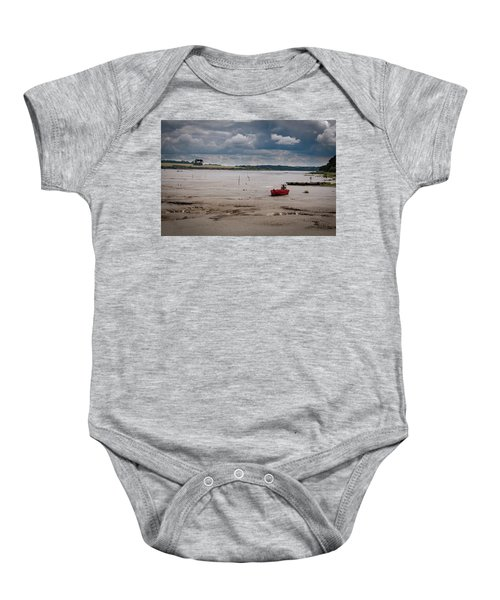 Red Boat On The Mud Baby Onesie