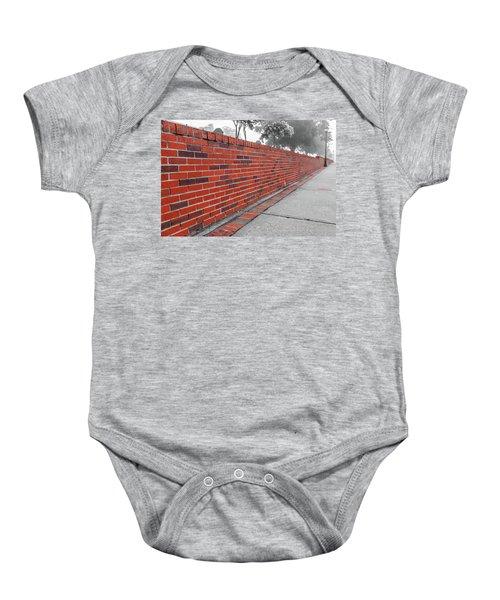 Red Brick Baby Onesie