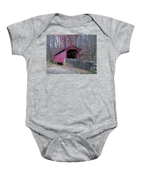 Red Bridge Baby Onesie