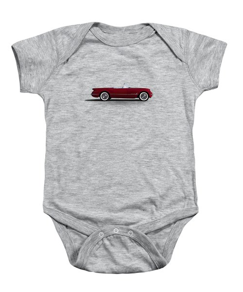 Red C1 Convertible Baby Onesie