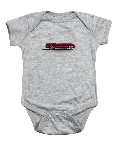 Red C1 Convertible Baby Onesie