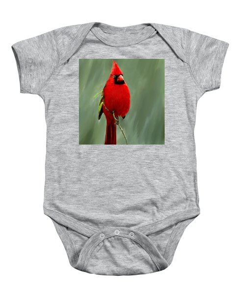 Red Cardinal Painting Baby Onesie