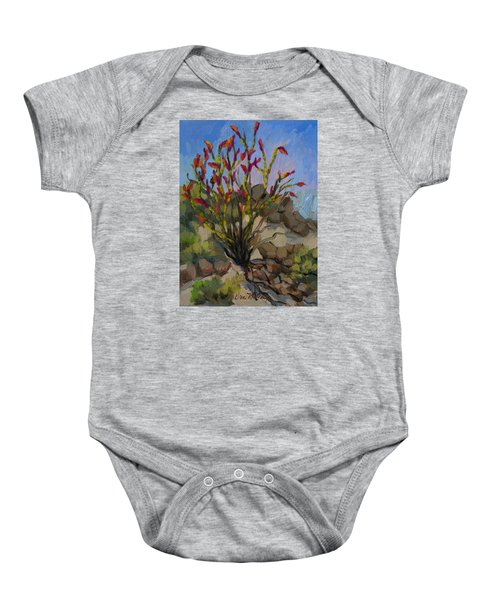 Red Flame Ocotillo 5 Baby Onesie
