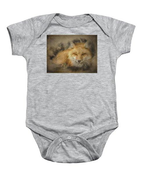Red Fox Resting Baby Onesie