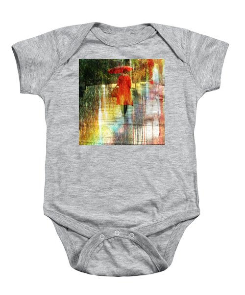 Red Rain Day Baby Onesie