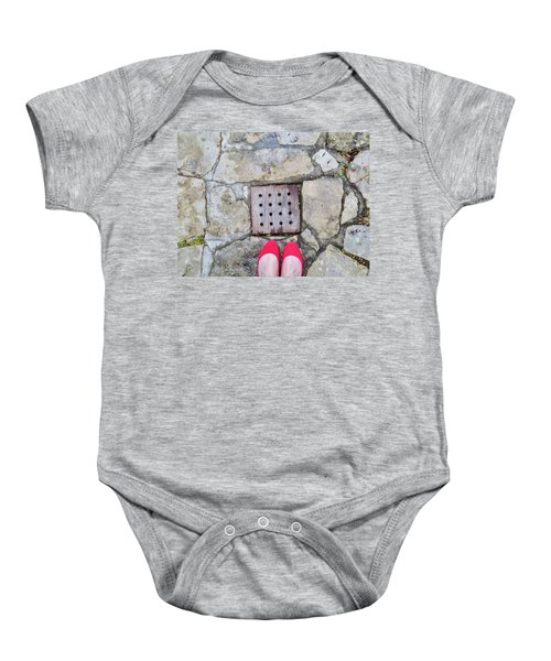 Red Shoes Baby Onesie