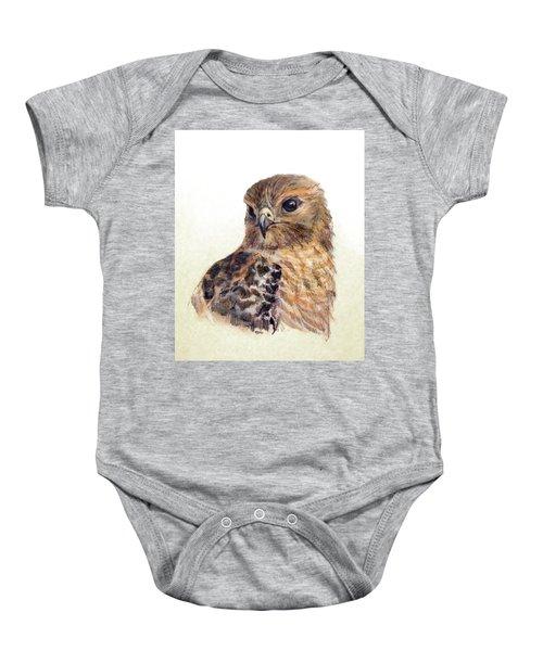 Red-shouldered Hawk Baby Onesie